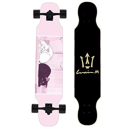 YQQ-MOTION Longboard Skateboard 46 Pulgadas de Largo X 9 Pulgadas de Ancho Deck Maple