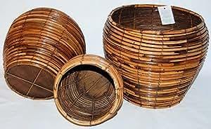 """Urn Rattan Jar Basket, 7.5""""W x 7""""H"""