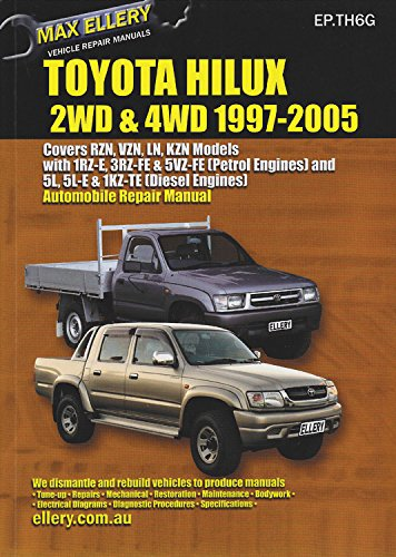 toyota hilux 2wd 4wd 1997 2005 max ellery s vehicle repair rh amazon com Toyota GR Engine Toyota L Engine
