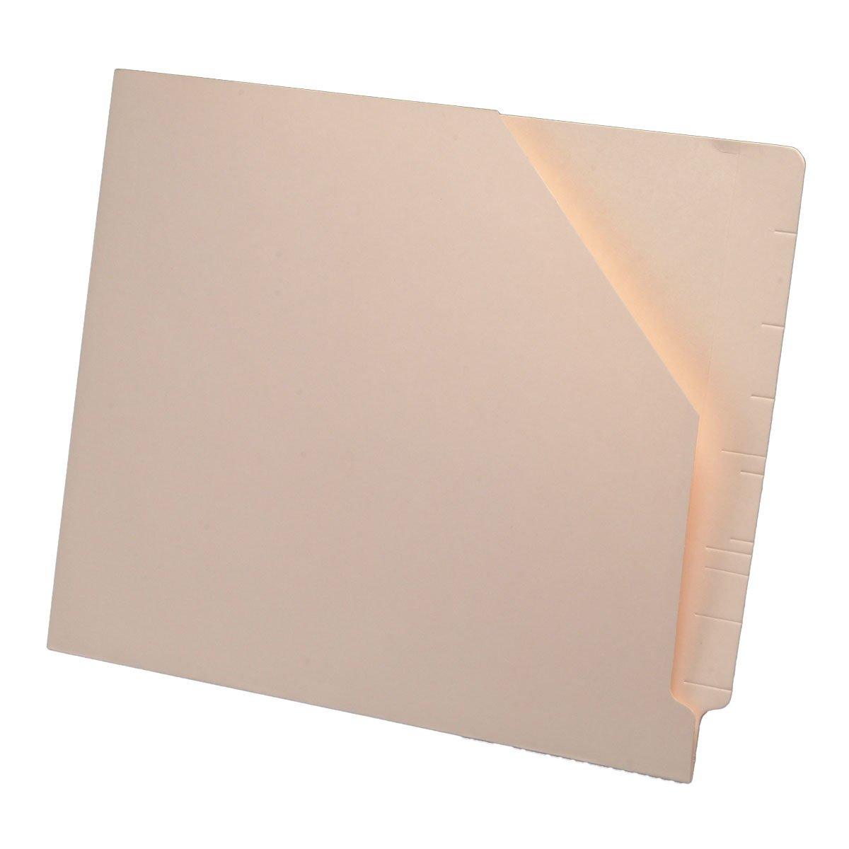 11 pt Manila Pocket, Full Cut End Tab, Letter Size, Slant Cut Front (Box of 100) by Ecom Folders