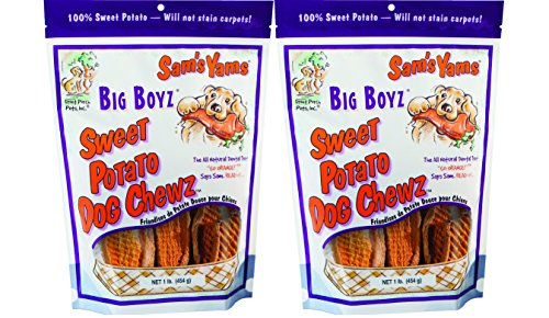 Sam's Yams Big Boyz Sweet Potato Dog Treats, 15 oz - 2 packs