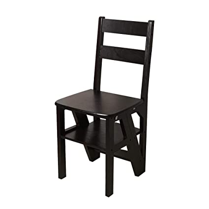 Pleasing Amazon Com Alus Solid Wood Folding Ladder Stool Gmtry Best Dining Table And Chair Ideas Images Gmtryco