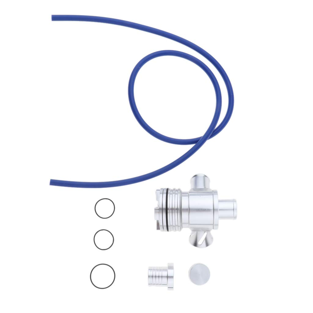 Baosity Chromed Dual Port Blow-Off Valve Kit for VW GTI Jetta Audi 1.8T 2.7T WITH HOSE and O-RING