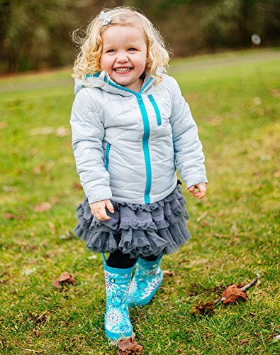 Oakiwear Kids Rubber Rain Boots with Easy-On Handles, Frozen Bursts, 2Y US Big Kid by Oakiwear (Image #6)