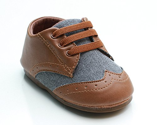 Pictures of Kuner Baby Boys Brown Pu Leather +Canvas Brown 1