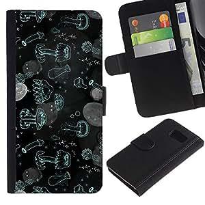 All Phone Most Case / Oferta Especial Cáscara Funda de cuero Monedero Cubierta de proteccion Caso / Wallet Case for Sony Xperia Z3 Compact // Jellyfish Water Sea Ocean Wallpaper Plankton