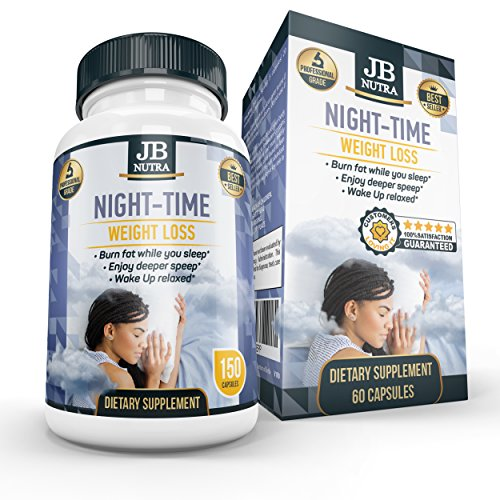 Night Time Weight Loss Pills, Night Time Fat Burner, Metabolism Stabilizer, Wake Up Feeling Fresh and Happy by JB NUTRA