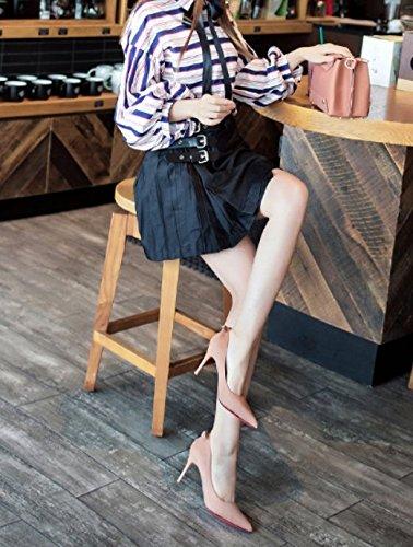 Libero Scarpe Singole Tacchi Profonda 34 Testa Camoscio MDRW Elegante Signora Poco E Tacco Affilato Scarpe Fiocco Tempo 39 Damigella 8Cm Lavoro Primavera Ammenda Rosa POq1ITqHw