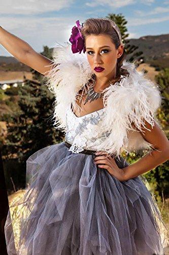 Ostrich Feather Bridal Bolero, Ostrich Feather crop jacket