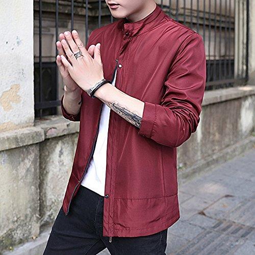 La versión coreana de los hombres chaqueta hombre delgado, Sau en un vino-IR conjunto de ropa casual, vino rojo ,XXXXL