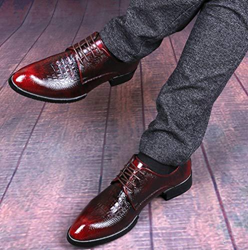 Derby Coccodrillo Scarpe Casual In Uomo In Moda Di Red2 Da Pelle Finta Pelle PHwqdY