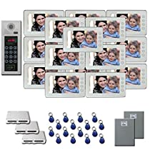 Multi Tenant Video Entry 16 7 door camera monitor key for kit