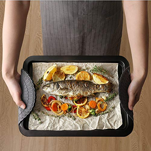 Large Product Image of 4pcs Hot Pad Trivet Gray, Zanmini Pot Holders for Hot Dishes, Insulation, Durable, Flexible Hot Pads, Pot Holders, Spoon Rest, Jar Opener