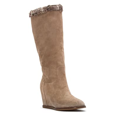 Johnston & Murphy Women's Brynn Pull-On Boot Mushroom Suede Boot ...