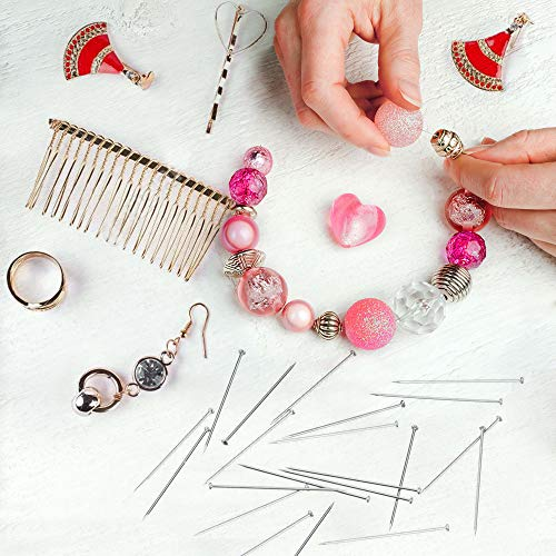 SIQUK 2400 Pieces Head Pins Stainless Steel Dressmaker Pins Fine Satin Pin for Jewelry Making Craft and Sewing