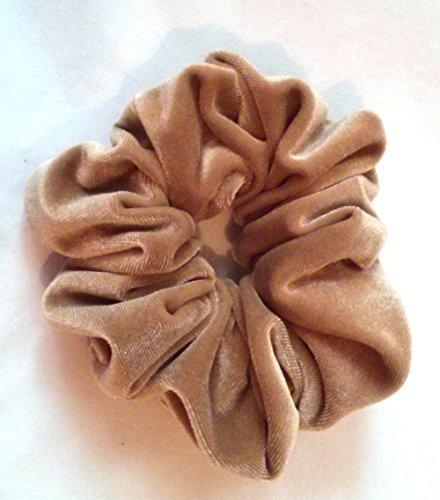 Golden Brown Velvet Scrunchies-Regular - Made in the (Golden Brown Velvet Fabric)