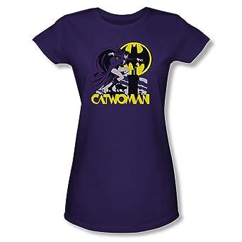 Catwoman Rooftop Batman DC Comics Junior T Shirt