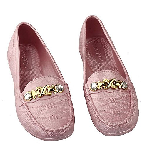 Slip Pink Toe Width Flats On Shoes Round Women's Flat Wide Comfortable Ballet LYLIFE 41OAA