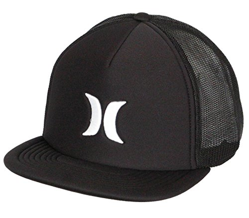 Hurley Blocked 3.0 Trucker Cap One Size Black (Embroidered Hurley Hat)