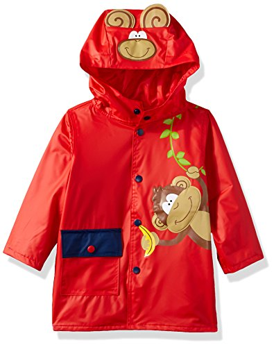 Wippette Toddler Boys' Monkey On Vine Raincoat, Red, 2T