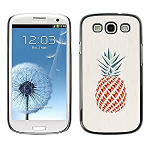 A-type Colorful Printed Hard Protective Back Case Cover Shell Skin for SAMSUNG Galaxy S3 III / i9300 / i747 ( Pineapple Polygon Minimalist Weed )