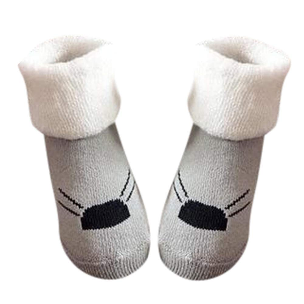 Inkach Newborn Baby Girls Boys Anti-Slip Socks Slipper Soft Winter Warm Knitted Non-Slip Booties Shoes Christmas Gift (Fit for 0~1 Years Old, D)