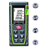 ieGeek Laser Measure 131ft Handheld Laser Distance Meter Laser Measuring Device with Pythagorean Mode,Area Volume Capacity Calculation Laser tape measure Rangefinder with LCD Display,Self-Calibration