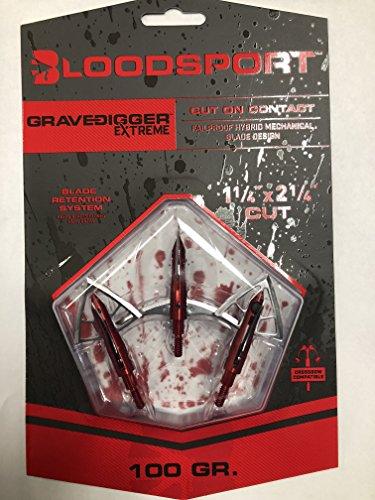 Bloodsport Gravedigger Extreme, 1 1/4in x 2 1/4in, 100 Grain