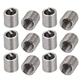uxcell #10-32x0.38 304 Stainless Steel Helical Coil Wire Thread Insert 12pcs