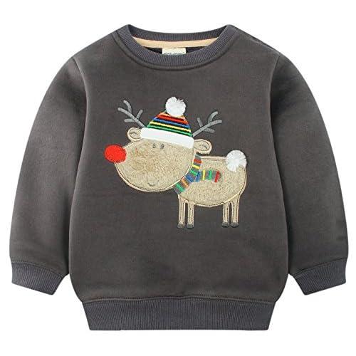 e905b7ca5 Barato mimiwinga- Sudadera Manga Larga de Niños para Navidad Invierno Otoño  Chandal Ropa Infantil Jersey