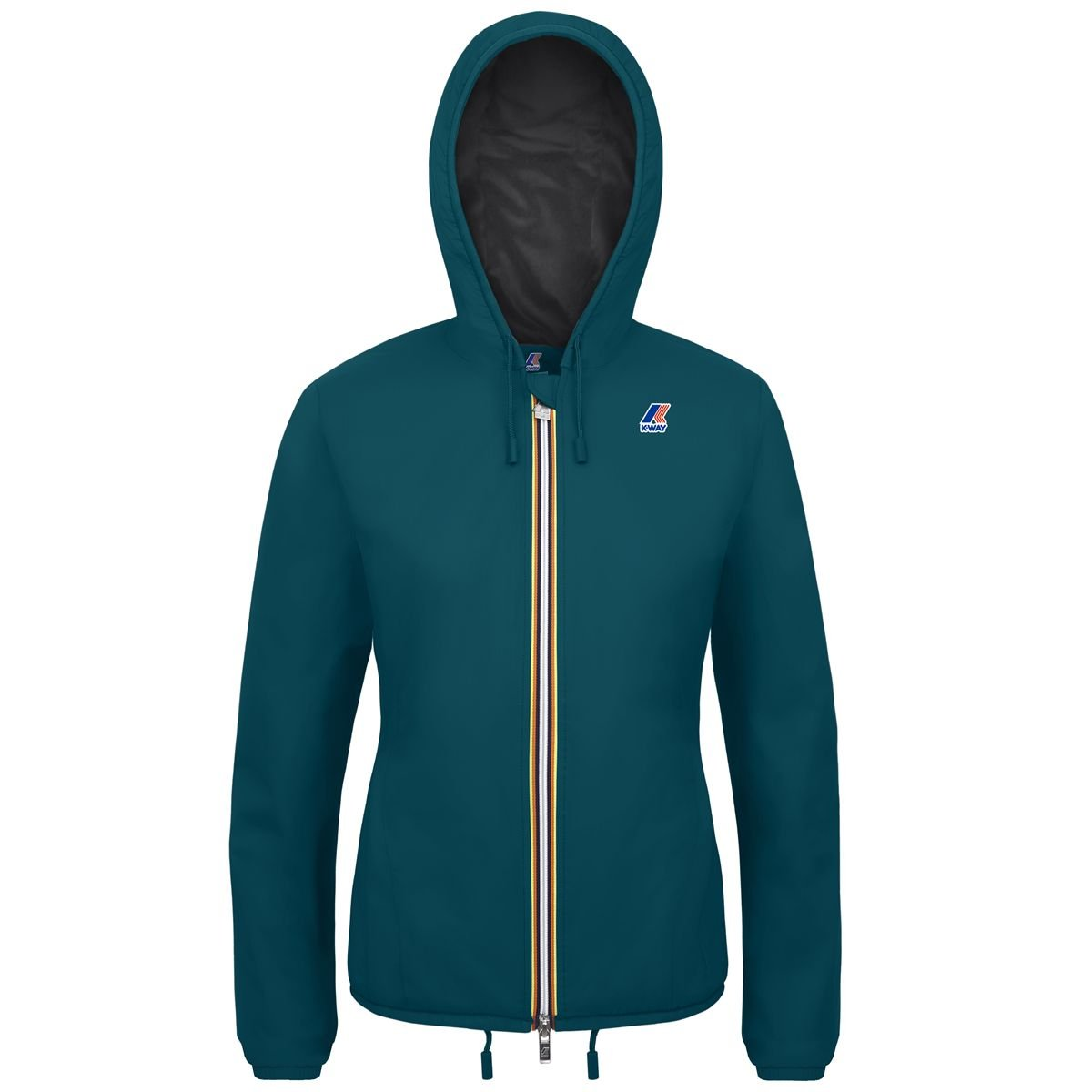 vert Teal-antracite  K-Way Premiere Lily Ripstop Marmotta Cape Homme