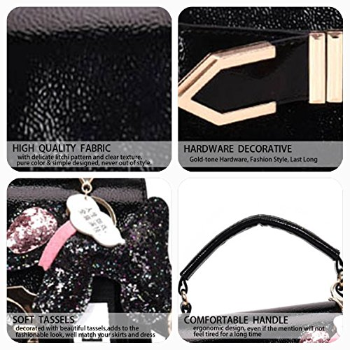 Handle Black Body Leather Handbags Cross Women's Faux Bags Bags Bags Shoulder Top zxPB7qF