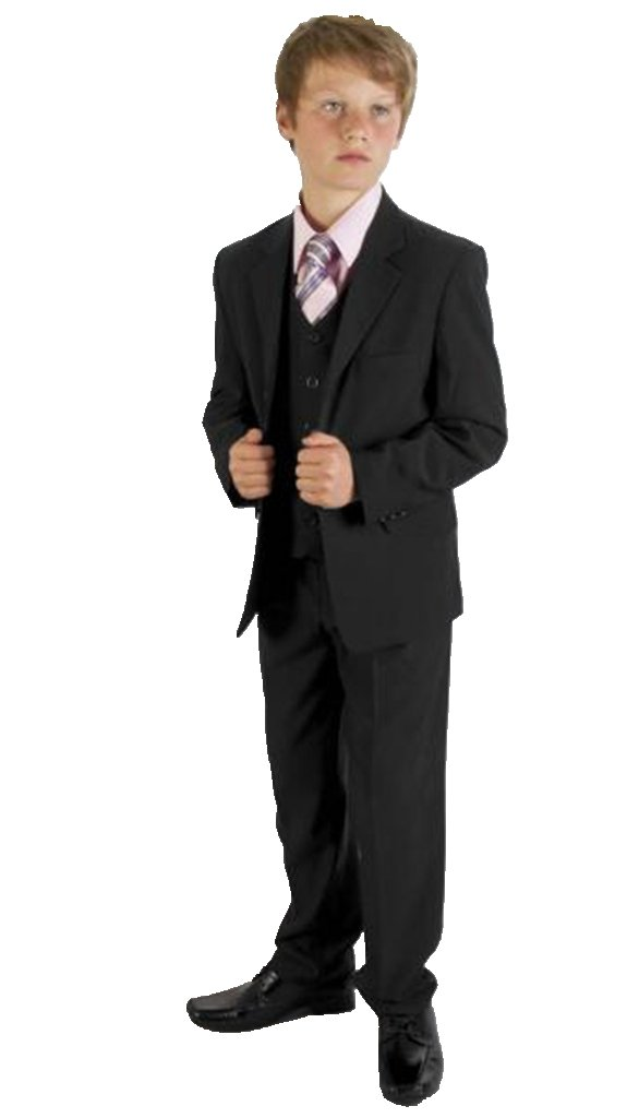MLT Boy's Black Party Prom Wedding Suit Set (L)