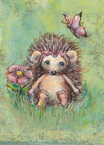 Oopsy Daisy Annabelle's Garden Canvas Wall Art, Green/Pink, 10
