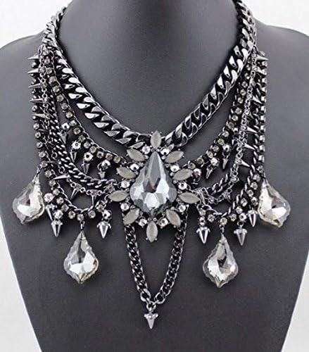 Estilo Zara negro Shourouk estuches de perfecto para vestir collar con colgante en forma ovillo de diseño gótico Tribal Boho: Amazon.es: Joyería