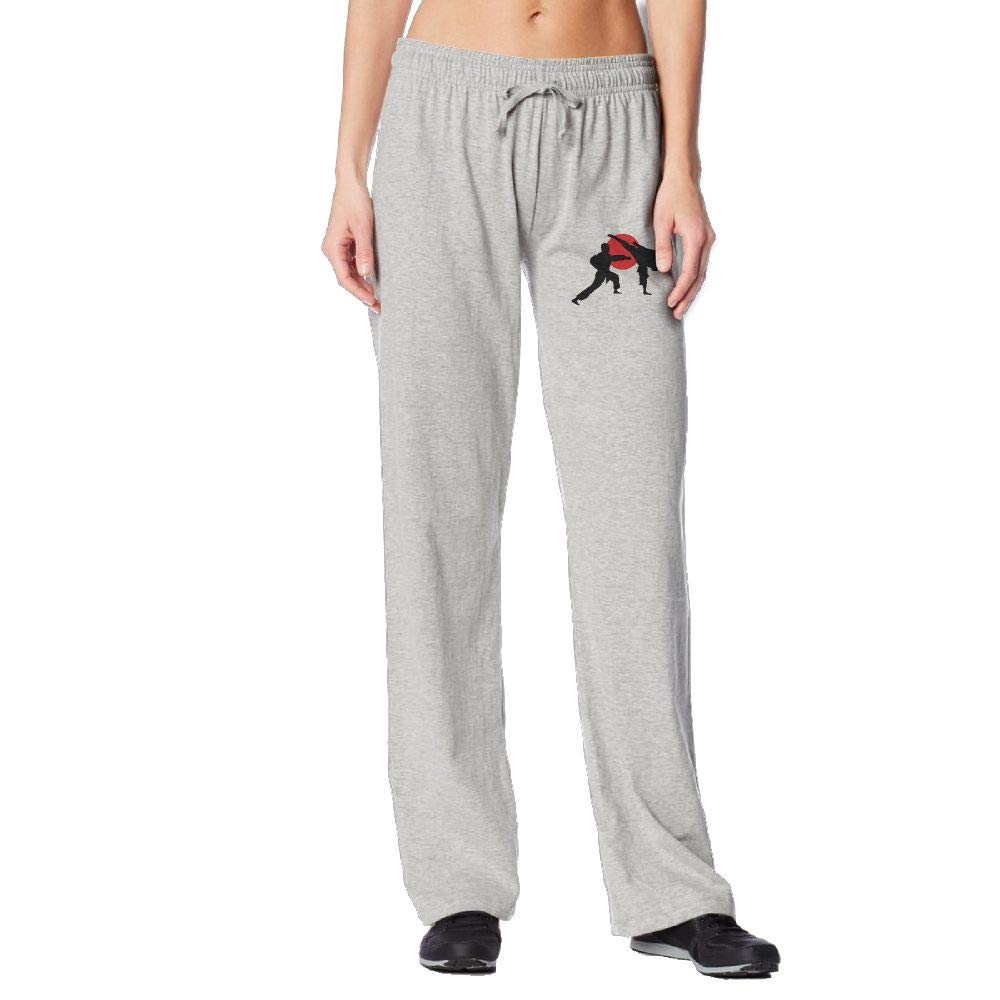 PPUttDJddGH-P Two Karate Fighter Womens Sports Sweatpants by PPUttDJddGH-P