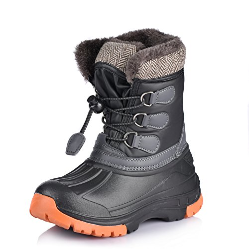 Nova Mountain Little Kid's Winter Snow Boots,NF NFWBN01 Black 12