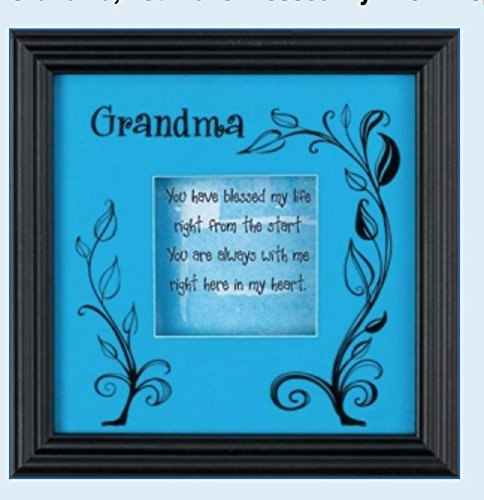(Grandma You Have Blessed My Life Shadowbox - Easel Back - Perfect Gift )