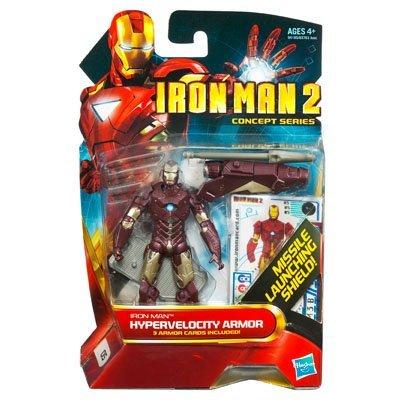 Iron Man 2 Movie Concept Series 4 Inch Action Figure Iron Man Hypervelocity Armor by Hasbro