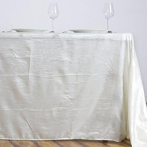 LinenTablecloth Rectangular Crinkle Taffeta Tablecloth, 90 x 156, -