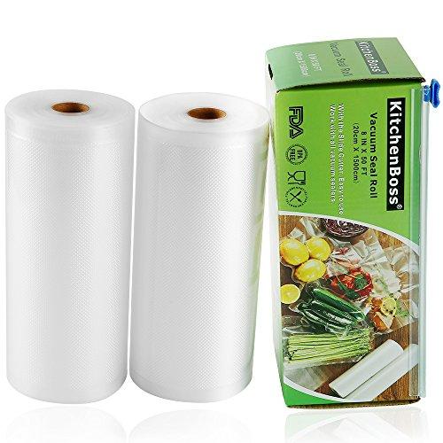 - KitchenBoss Vacuum Sealer Rolls 2 Pack 8