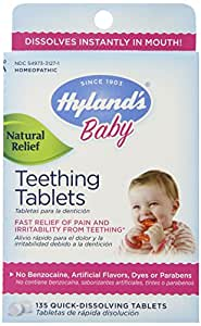 Hyland's Homeopathic Teething Tablets, 135 Count (Pack of 2)