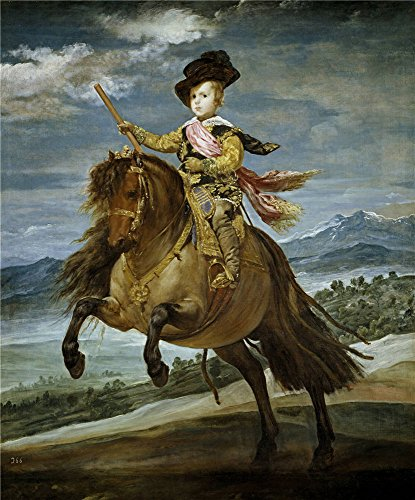 (Oil Painting 'Velazquez Diego Rodriguez De Silva Y Prince Baltasar Carlos On Horseback 1635 36 ' Printing On Polyster Canvas , 8 X 10 Inch / 20 X 25 Cm ,the Best Home Office Decor And Home Artwork And Gifts Is This Beautiful Art Decorative Canvas Prints)