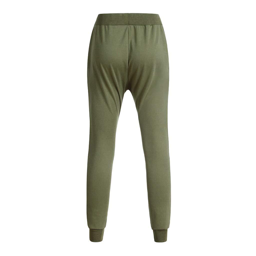Dragon868 Pantaloni Uomo Cotone Pantaloni Cavallo Basso Irregolare Slim Fit met/à Vita Elastico Pencil Pants