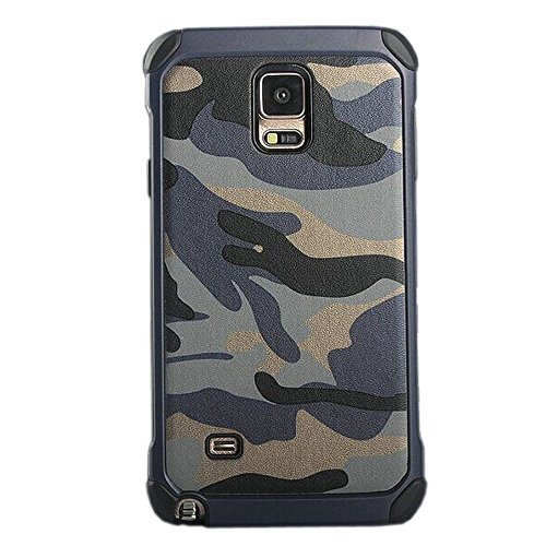 Rejected all traditions For Galaxy Note 4 Case,Camouflage Dual Layer Hybrid Protected Hard Case Cover for Samsung Galaxy Note 4(Navy blue)