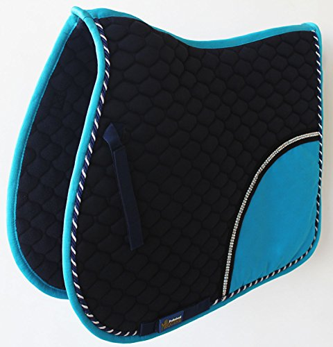 Tackus Horse Cotton Quilted All Purpose ENGLISH SADDLE PAD Contoured Turquoise 72F41