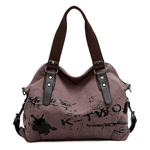 New Graffiti Canvas Tote Bag Fashion Women's Bags Korean Bangalor Color Satchel Bag (violaceous)