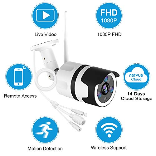 Outdoor Security Camera, 1080P Outdoor Surveillance Cameras with FHD Night Vision, Motion Detection, Two-Way Audio, IP66 Waterproof, Wired or WiFi Outdoor Camera, Cloud Storage (Updated Version) by NETVUE (Image #3)