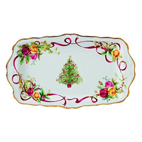 Old Country Roses Christmas Tree Sandwich Tray - Rose Sandwich Tray