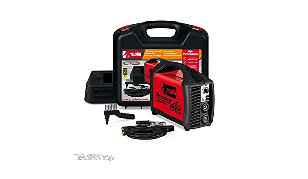 Telwin - Soldadura MMA TIG tecnica 151/S Inverter 130 A DC + Kit MMA Telwin 816202: Amazon.es: Bricolaje y herramientas